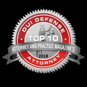 Top 10 Attorneys DUI Defense Badge