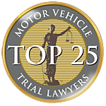 Motor Vehicle Trial Lawyers Top 25 Badge