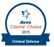 Avvo Clients' Choice 2015 Criminal Defense