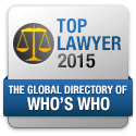 Top Lawyer 2015 Who's Who Badge